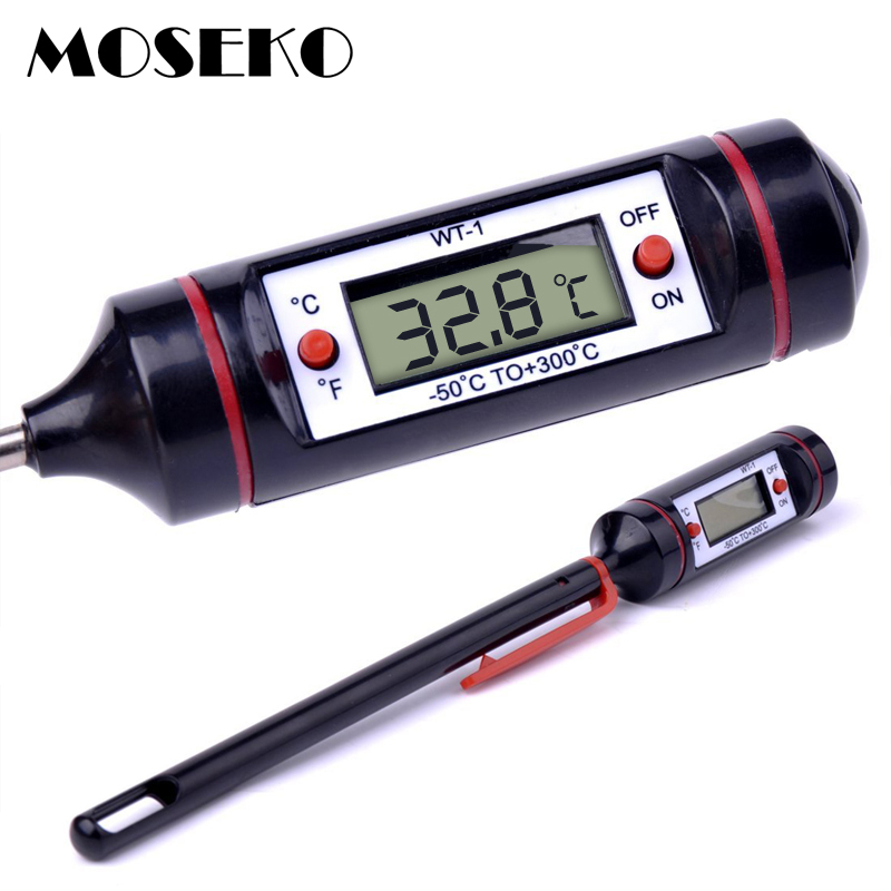 MOSEKO Hot Sale Portable Food Thermometer Digital  Milk Water Oven Probe BBQ Meat Thermometer Kitchen Cooking Tool Temperature