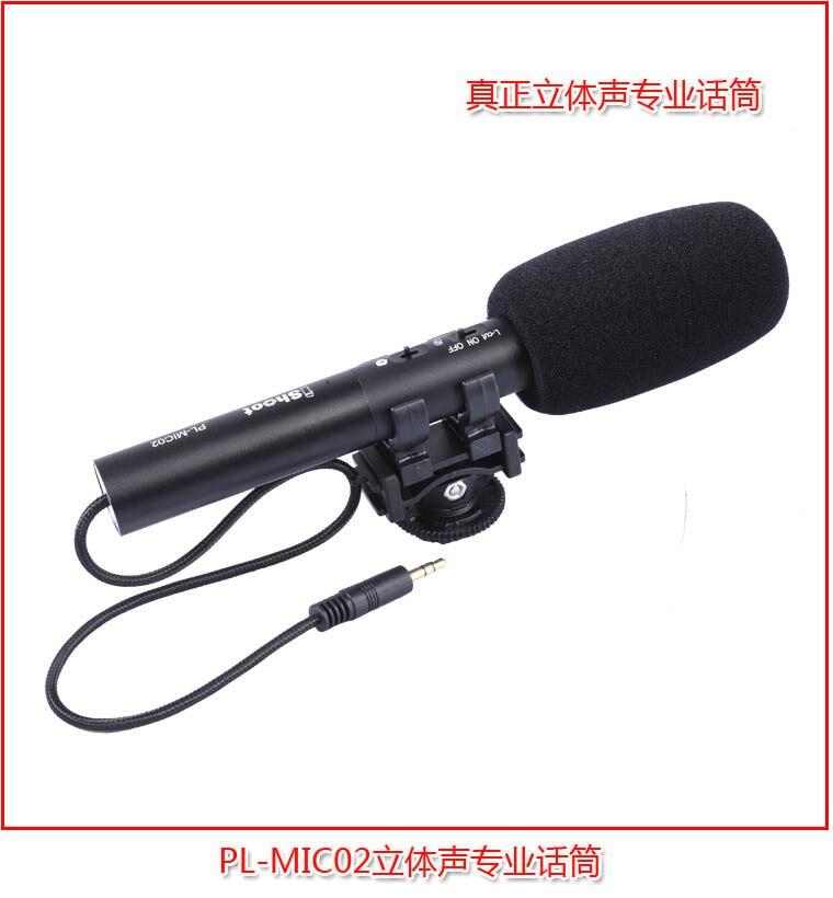 Pro DC/DV Stéréo Microphone MIC Microfone cas pour Canon pour Nikon pour Sony Hot Shoe Numérique Appareil Photo REFLEX vidéo Caméscope