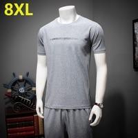 PLUS size 10XL 9XL 8XL 7XL 6XL 5XL Men Summer Style Gradient Short Sleeve T shirt Short Male Suit Tracksuit Man t Shirt