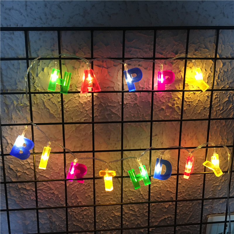 Led Lighting Beautiful 13led Fairy Happy Birthday Lamp Battery Operated String Lights 2m Led Decoration For Christmas Garland New Year Gerlyanda 2018 Up-To-Date Styling