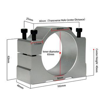 52mm 57mm 65mm 80mm aluminium silnik wrzeciona CNC uchwyt zacisk CNC Router mocowanie silnika z 4 sztuk śruba tanie i dobre opinie NoEnName_Null Maszyny do obróbki drewna CNC Spindle Motor Clamp