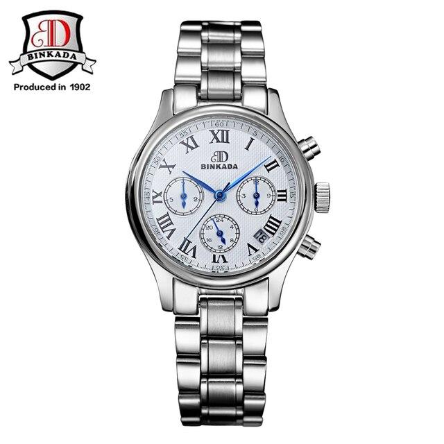 Relojes Mujer binkada 2017 Для женщин брендовые Роскошные Винтаж автоматические механические часы Для женщин тонкие модные Водонепроницаемый дамы наручные часы