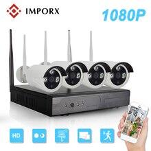 Imporx 4CH HD 1080 P Беспроводной NVR Kit ИК Открытый Водонепроницаемый 4 шт. 2MP Wi-Fi IP Камера CCTV Системы P2P комплект видеонаблюдения