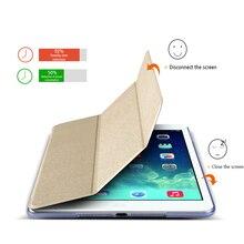 FLOVEME Seda Funda de piel Para iPad Aire 1 2 Cáscara Protectora encender Caso Titular Del Tirón de la piel Para Apple iPad 5 6 Tablet accesorios