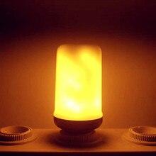 Creative 3 modes+Gravity Sensor Flame Lights E27 E26 E14 LED Flame Effect Fire Light Bulb 7W 9W Flickering Emulation Decor Light
