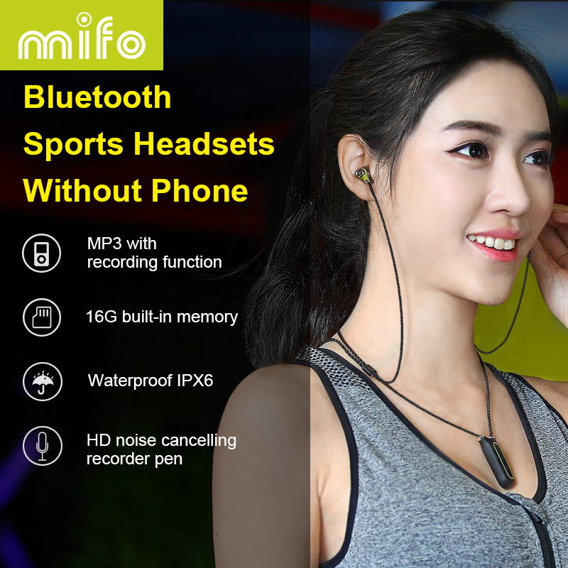16G Necklace Wireless Earphone HiFi Bluetooth Headset Recording Pen Magnetic Sport Earbuds Running Waterproof Earpiece Brand Box
