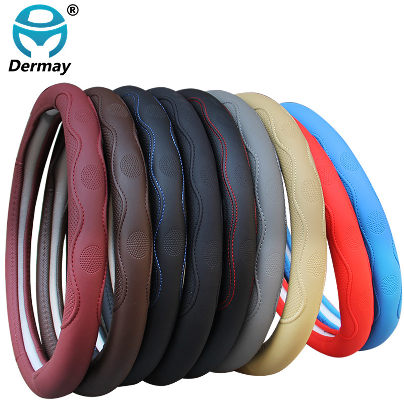 Car-Steering-Wheel-Cover Volant Universal Auto Fashion The Braid Non-Slip Funda 9-Colors
