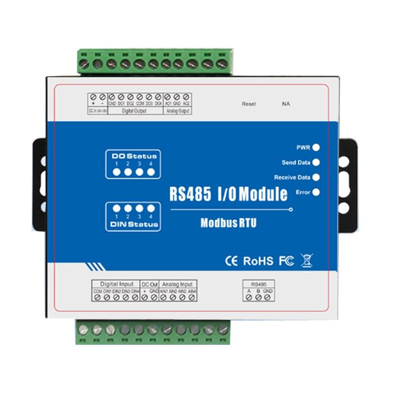 M120 Modbus Remote IO Module Data Acquisition Module (4DI+4DO+4AI+2AO) Inbuilt Watchdog 4 Relay Output