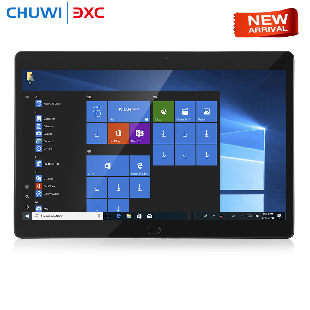 Chuwi CoreBook 2 in 1 Tablet PC 13.3 inch Windows 10 Intel Dual Core 8GB RAM 128GB SSD ROM Dual WiFi Double Cameras Type-C