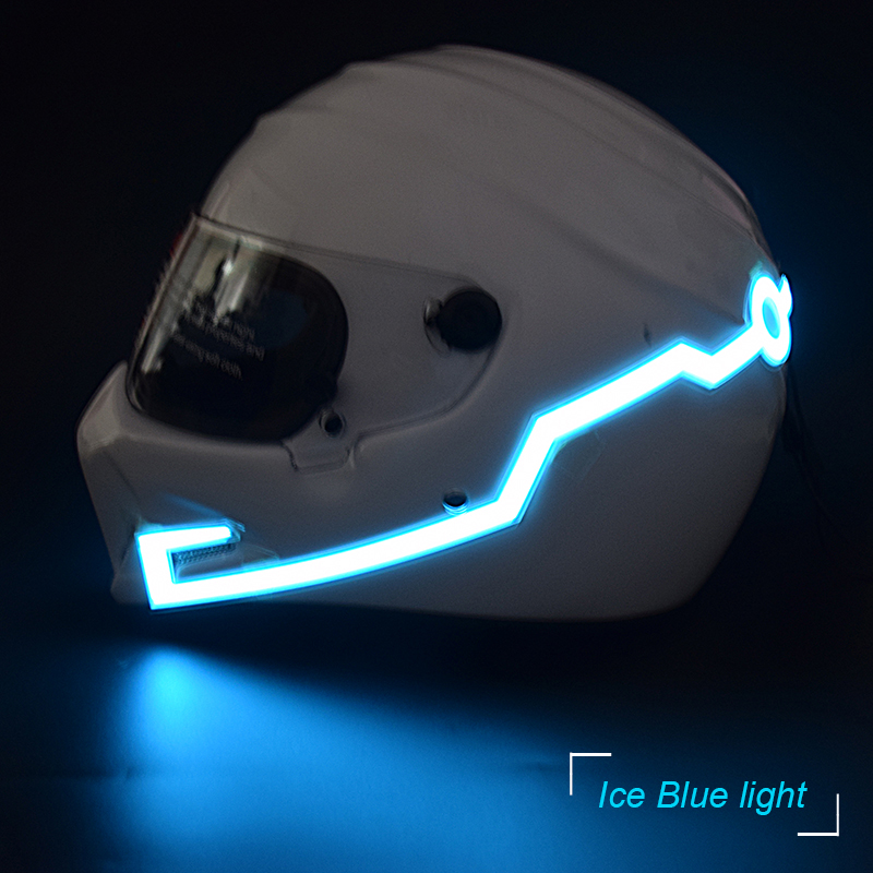 Motorcycle Helmet EL Cold Light Mod Kit Tron Helmets Mode Night Time Riding Signal Flashing Lights strip Bar Easy Install DIY bicycle helmet