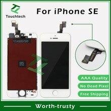 Класс AAA++ Черный/Белый Запасные части для Pantalla iPhone SE 5SE ЖК-экран дигитайзер сенсорная панель с Заводской ценой