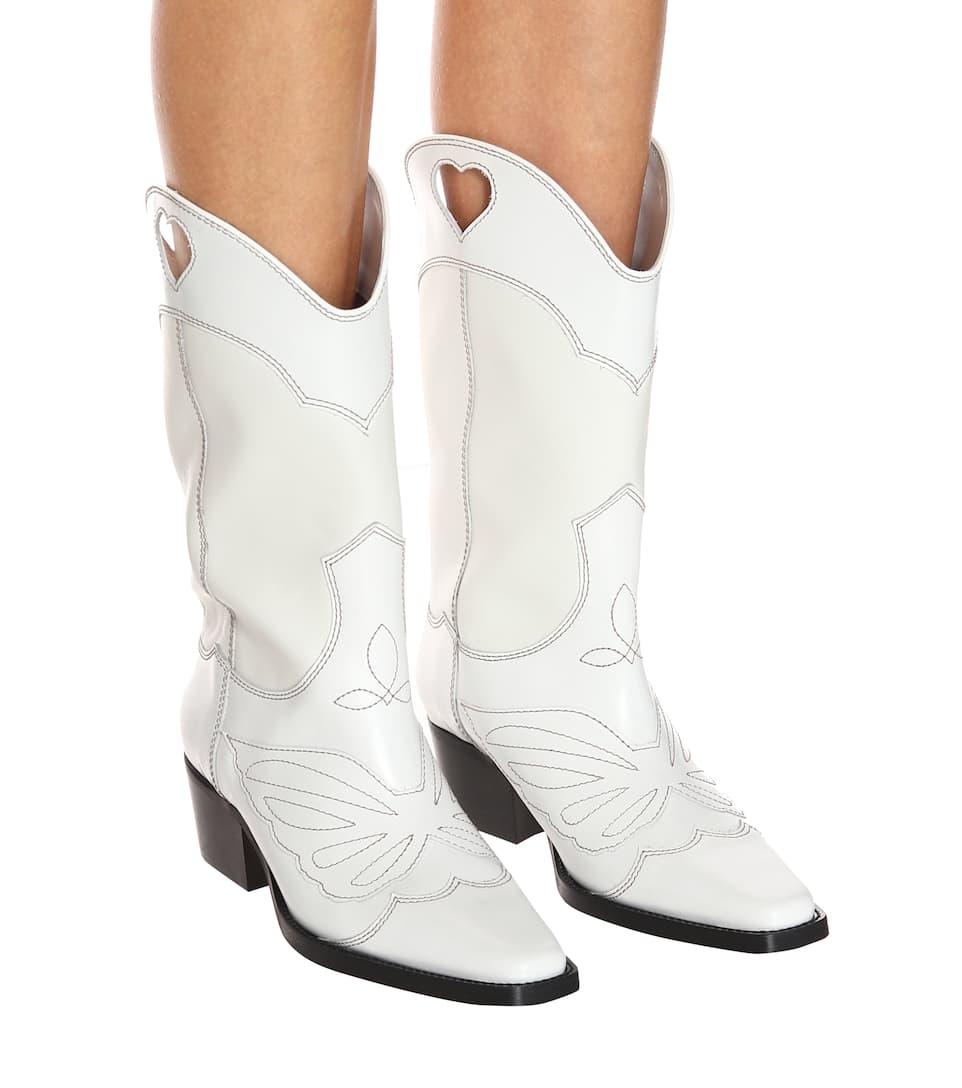 Рыцарские сапоги в западном стиле с вырезами и вышивкой; черные женские сапоги до колена из натуральной кожи с квадратным носком; ботинки ср... - 4