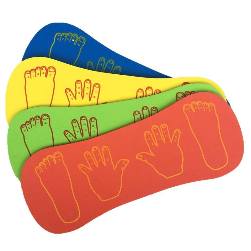 1pcs EVA Foam Mat Kids Indoor Outdoor Games Fun Sport Toys Jumping Toy Portable Game Pad Children Hands Feet Cooperation 58*25cm
