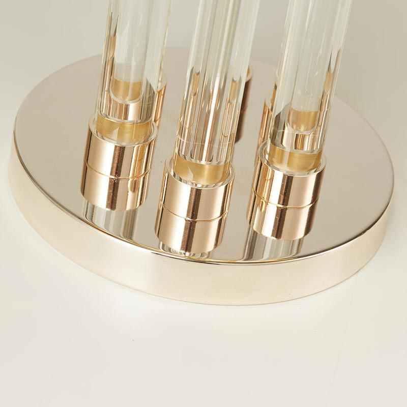 Современный роскошный хрустальный свет Стекло дизайнерская настольная лампа Гостиная Спальня прикроватная Ткань Абажур для домашнего освещения фикструэс E27 110-220 V
