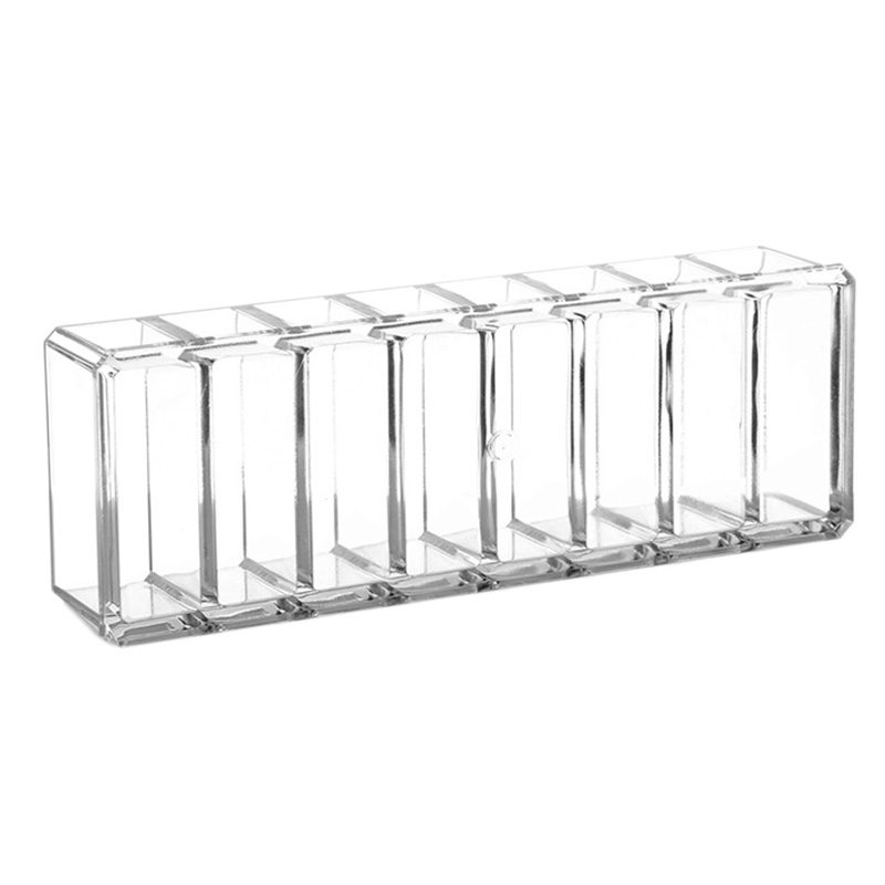 Clear Acrylic Makeup Organizer Cosmetic Storage Box Makeup Powder Box Desktop Women Lipstick Holder Organizador Maquillaje(China)