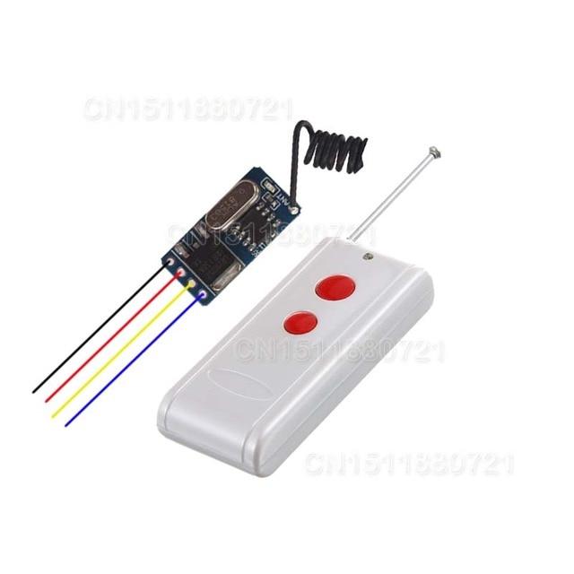 DC3.5V-12V Mini Receiver Remote Control Switch Small Volume No Sound Long Range Micro Wireless Switch 20m-1000m
