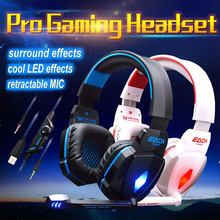 G4000 casque gaming headset Plug PC earphone Luminous game headphones with Microphone mic Noise Canceling for computer PC Gamer