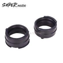 4 piece/set Motorcycle Carburetor Adapter Interface Insulator Connector For HONDA VFR400 RVF400 MC30 MC35 VFR RVF NC30/35