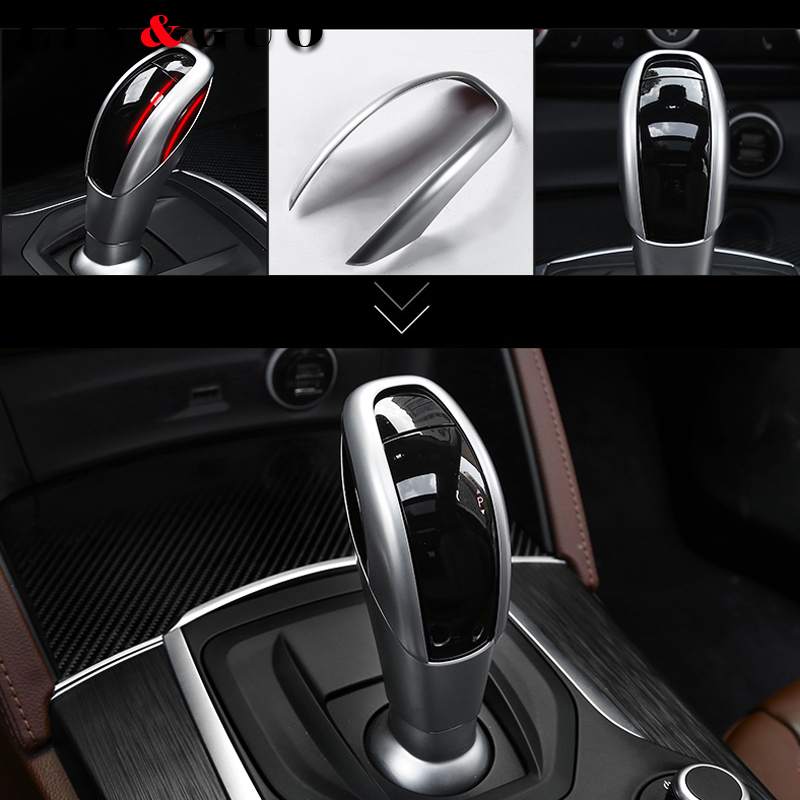Auto refitted special ABS Plastic Gear Shift Head Cover Trim For Alfa Romeo Giulia Stelvio Car Accessories carbon fiber for alfa romeo giulia stelvio 2017 abs plastic interior center console gear shift panel cover trim replacement part