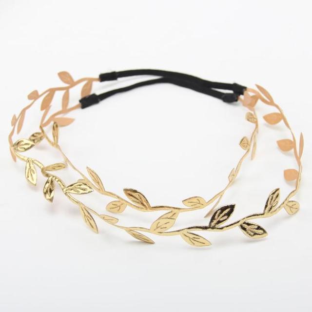 Bronze Leaves Baby Girl's Headbands