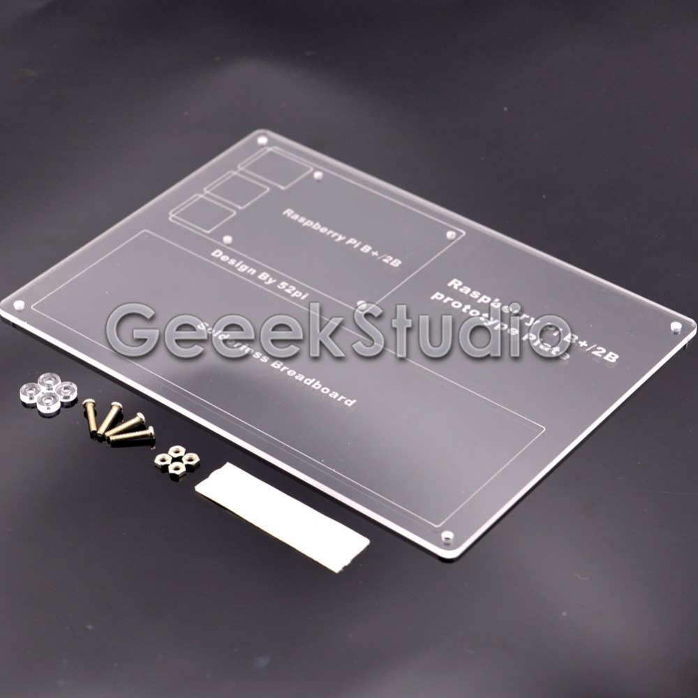 Mounting Plate Breadboard Acrylic Experiment Platform for Raspberry Pi 2 3