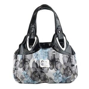 Image 1 - FGGS modna torebka kobiety PU skórzane torby dużego ciężaru torba torba drukowanie torebki Satchel sen szafranowy + biały pasek na rękę