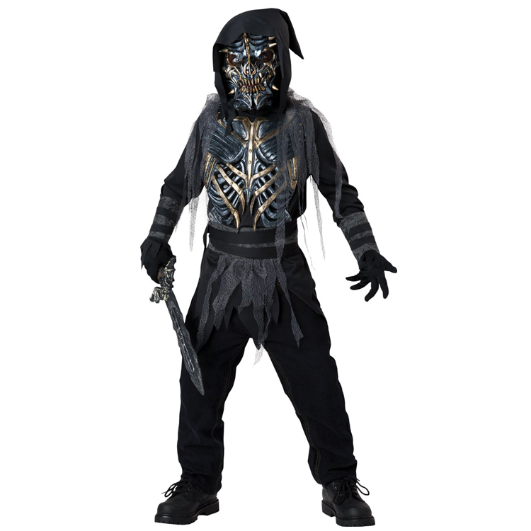 Halloween Costumes For Kids Boys 10 And Up.Kids Death Warrior Halloween Horror Costume Child Fantasia Carnival Party Dressing Up Vinyl Mask Include Age 10 12 In Clothing From Novelty Special
