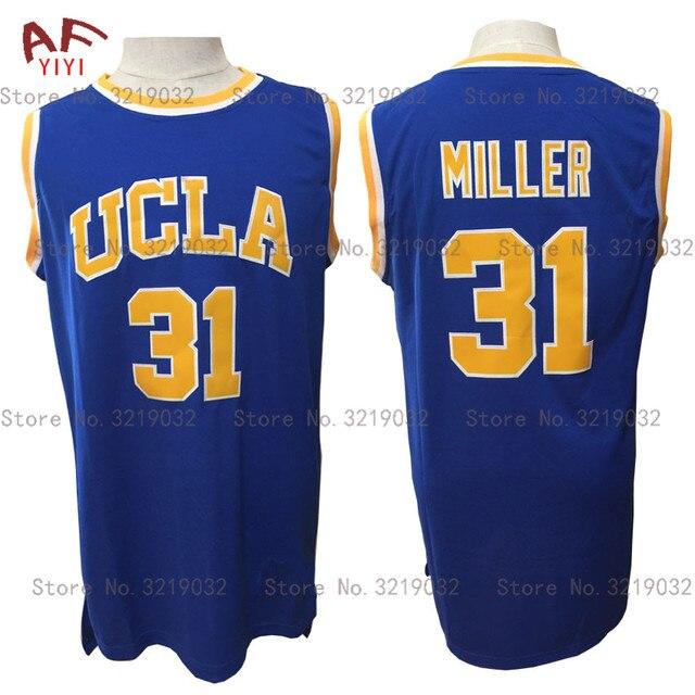 5949e973d3b7 AIFEIYIYI Cheap Throwback Jersey Reggie Miller 31 UCLA College Basketball  Jersey Blue Stitched Retro Mens Shirts