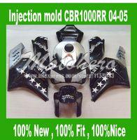 Injection CBR1000 Fairing kits for HONDA CBR1000RR 04 05 CBR1000 2004 2005 CBR 1000RR 04 05 silver black 7stars fairings kit #7L