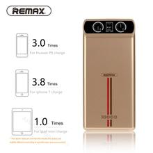 REMAX 10000 мАч Мощность банк с индикацией Двойной выход USB Портативный Зарядное устройство Мощность банка для iPhone 6 7 Samsung Внешний Батарея