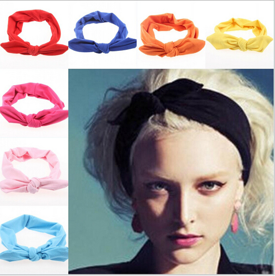 2015 korean boutique rabbit bunny ears top knotted twist headbands for women adult infant girls baby