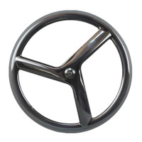 Free shipping carbon firber toray t700 50mm depth 3 spoke wheel clincher UD glossy finish track bike front wheel
