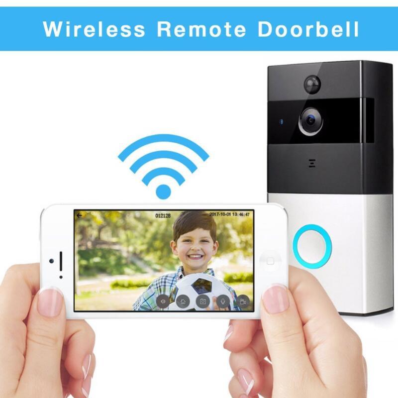 1080P Video Doorbell,Wireless WiFi Battery Ring Video Doorbells HD 2.4G Phone Remote PIR Motion Two-way Talk Home Alarm Security 1080p hd video doorbell wireless wifi battery ring infrared led 2 4g phone remote pir motion two way talk home alarm security