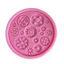 XIBAO Steam Wheel Watch Fondant Cake Mold Cupcake Mould Gears Wedding
