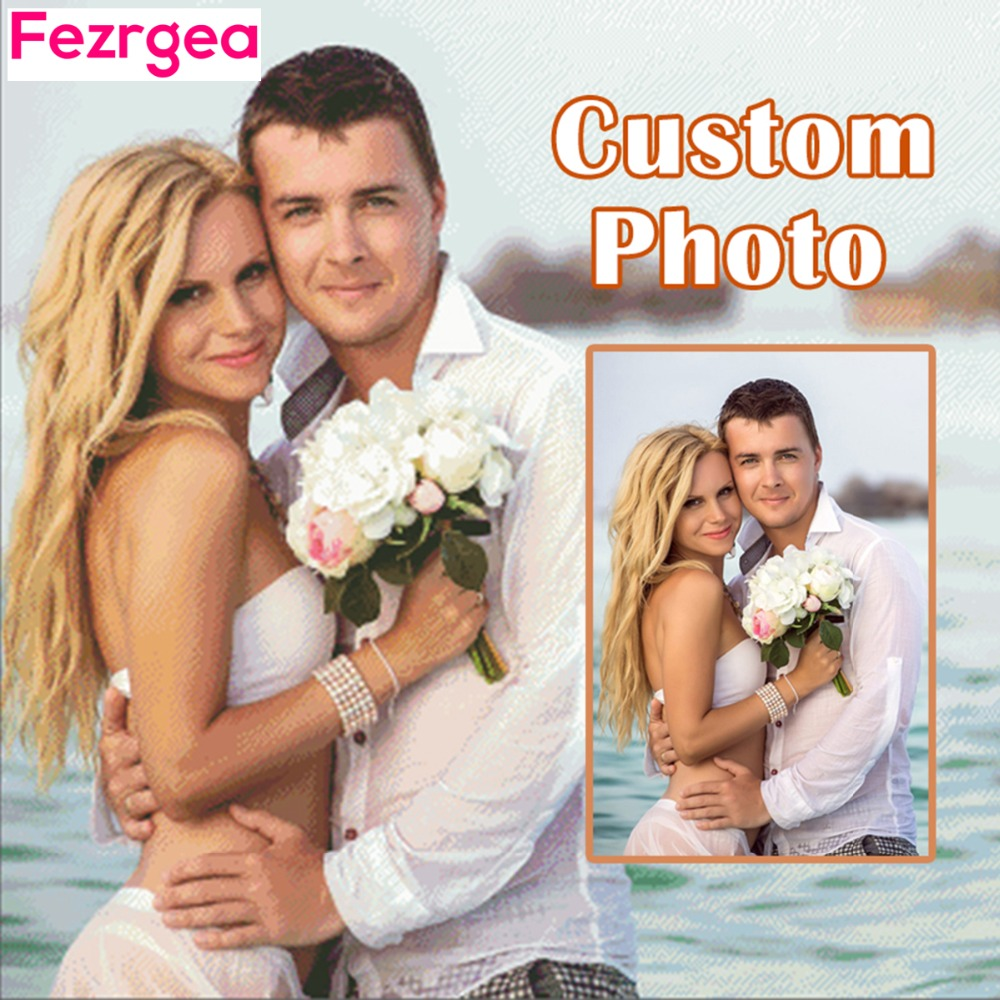 Fezrgea Photo Custom 5D DIY Diamond Painting punto de cruz Full - Artes, artesanía y costura