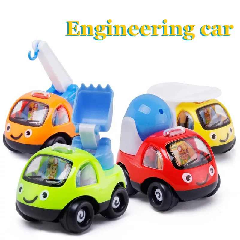 1pc Engineering car Pull back Vehicle Toys Mini Cartoon Model Toy Gift for Children Baby Kids Toys Best gift for baby