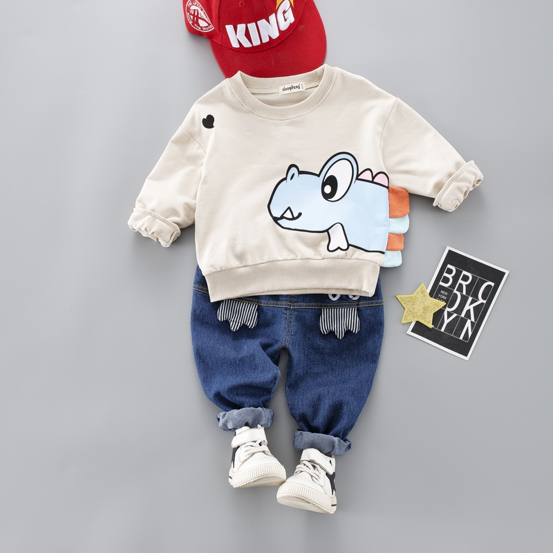 Cute Toddler Clothes | Hot Kids Baby Boy Girl Cartoon Clothes Set Cute Toddler Clothes Spring Fall Cotton Casual Suit For Boy Infant 1 4 Years