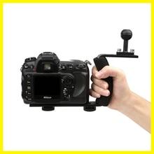 Sous-marine Plateau Boîtiers Bras pour Gopro 5 4 3 Camera Action titulaire Double Grip de Plongée pour Canon Nikon Sony Fujifilm pour xiaoyi