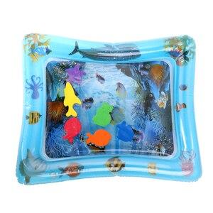 Image 2 - PVC gonflable bébé tapis deau Fun activité Center de jeu pour enfants tapis de Camping nourrissons exquis coussin deau tapis de Camping