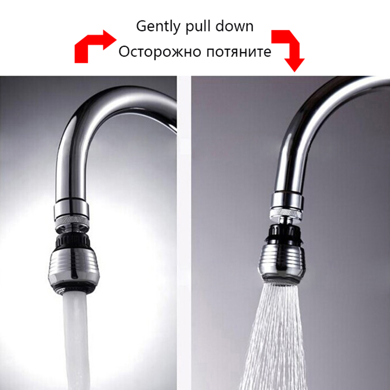 LOMAZOO 360 Degree Water Faucet Bubbler Kitchen Faucet Water Saving Bathroom Shower Head Filter Nozzle Spray