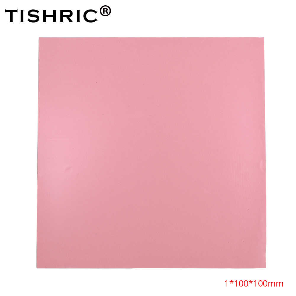 TISHRIC Red heatsink heat sink Grease Paste Adhesive Computer PC Fan Cooler Conductive Silicone pad GPU CPU Thermal Pads 1mm