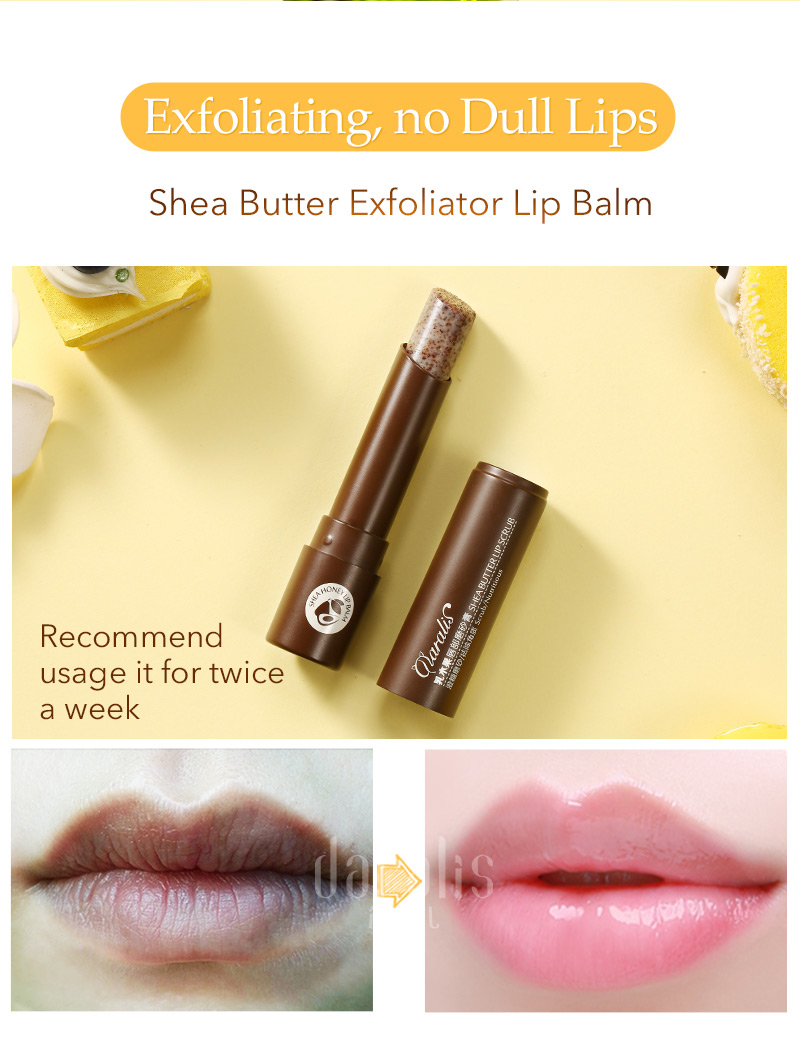 Shea Butter Lip Care Set (Balm Scrub Cream) 7
