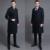 Preto longo casaco de lã masculina 2016 primavera e no outono moda turn-down collar plus size mens casacos de lã homem casacos grátis grátis