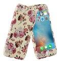 Luxo 360 graus de cobertura completa anti-knock colorido impresso flores caso de telefone casos para iphone 6 para iphone 6 s caso