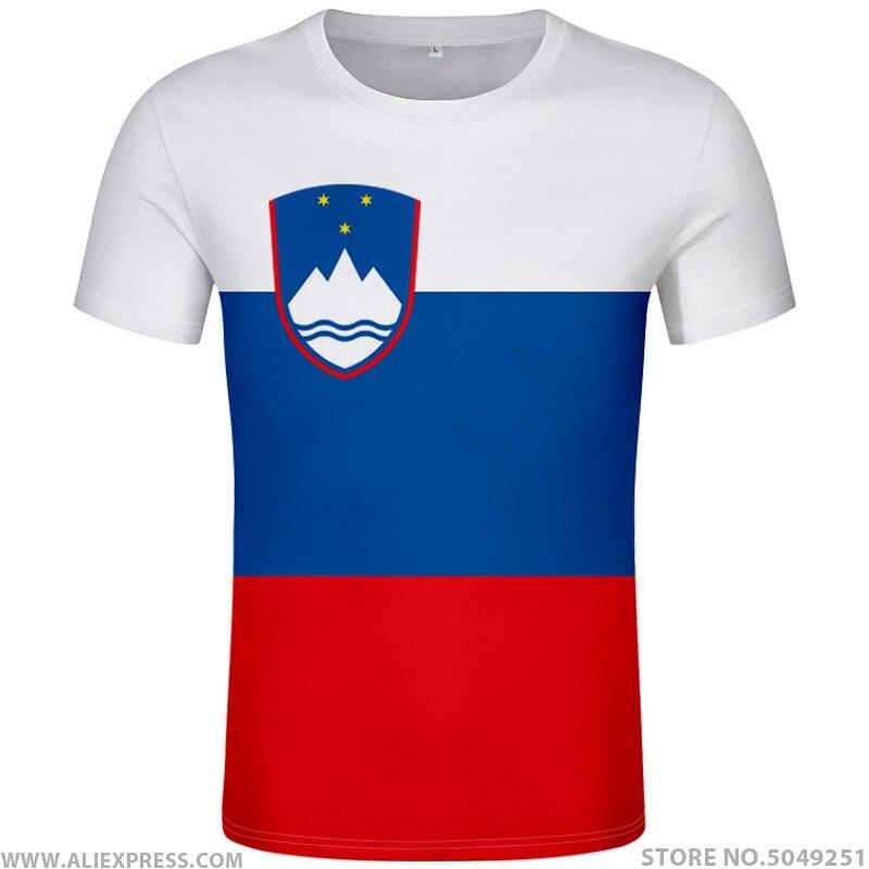 SLOVENIA T Shirt Diy Free Custom Name Number Slovenija Svn T-Shirt Nation Flag Si Slovene Slovenian Country Print Photo Clothing