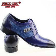LUXURY HANDMADE MEN SHOES GENUINE LEATHER SOLID BLUE OFFICE BUSINESS WEDDING DRESS POINTED TOE OXFORDS CASUAL SUMMER