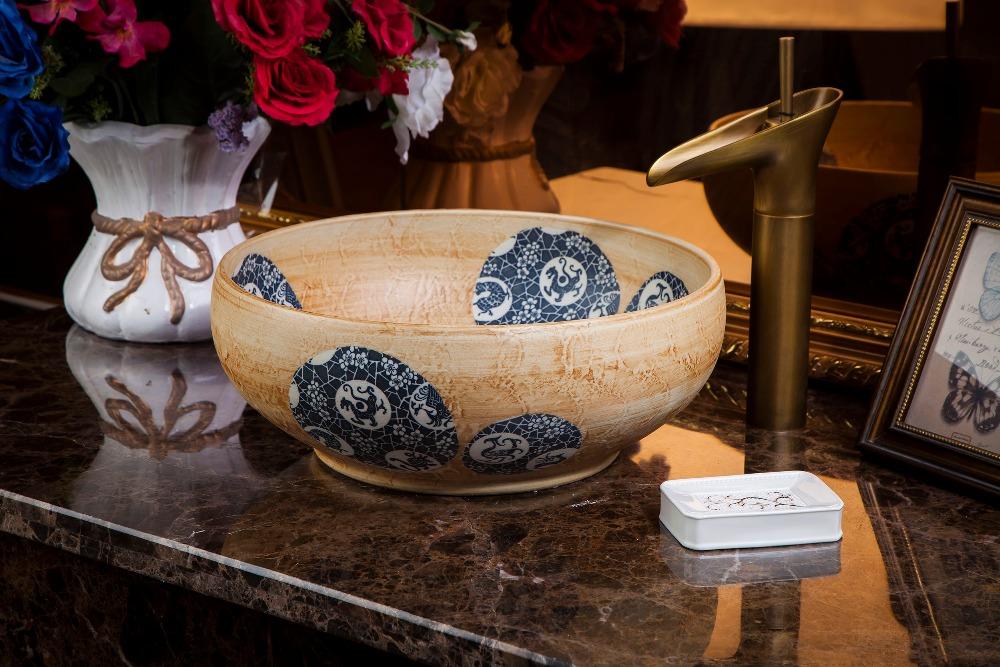 chinese Jingdezhen Art Counter Top ceramic traditional basin bowls (2)