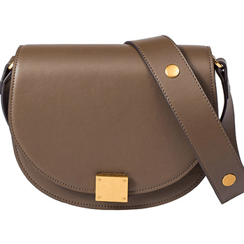 Saddle bag genuine leather bags women real leather luxury brand shoulder bags women elegant vintage brown bag