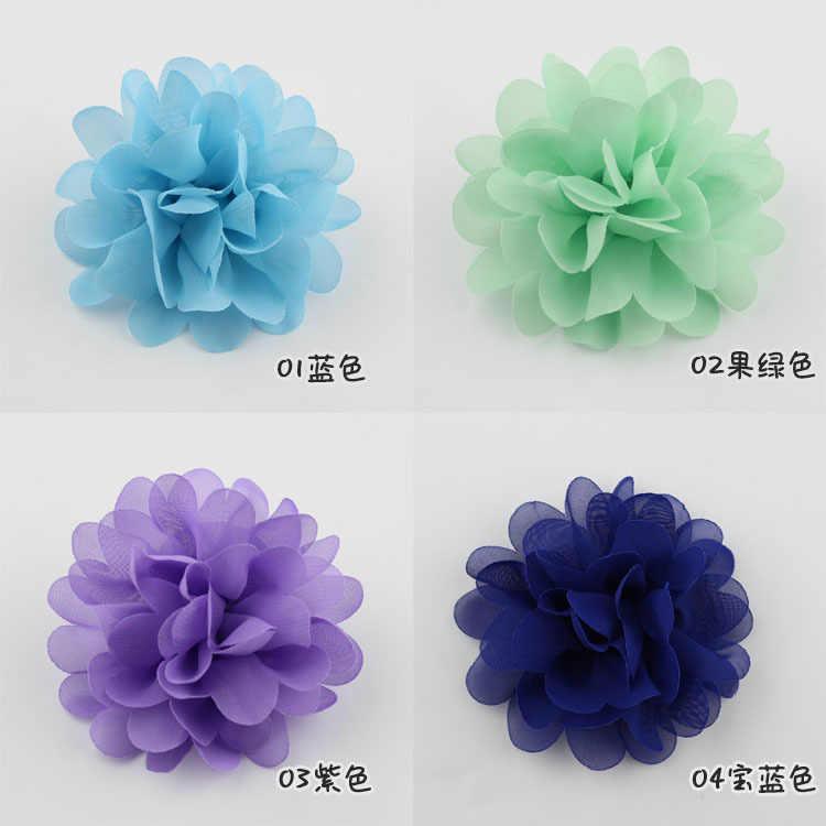 DLY เด็กทารกเด็กแรกเกิดอุปกรณ์เสริมผมขนาดเล็กชีฟองดอกไม้หัวเด็กดอกไม้ไม่มีคลิปการถ่ายภาพ Props