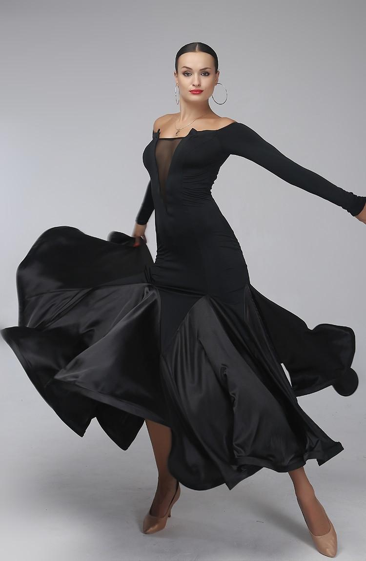 02fe072d711e Sexy Black Standard Ballroom Dress Ballroom Dance Competition ...